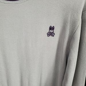 Psycho Bunny Shirts - Psycho Bunny Long Sleeve Thermal Shirt Gray Sz S